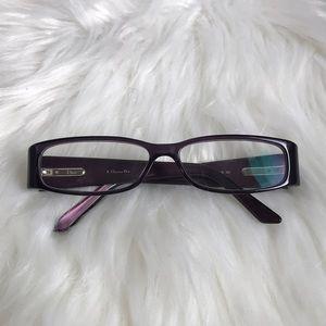 Authentic Christian Dior purple eyeglasses
